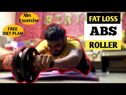 Abs Roller Wheel Workout at home in 2021 | ABS EXCERCISE, FAT LOSS, BELLY FAT, FREE DIET PLAN..🔥🔥