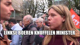 Linkse hippieboeren knuffelen met minister Schouten