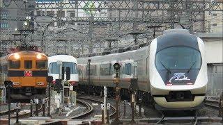 近鉄21020系 21121編成 UL21 (近鉄特急70周年記念R編成 特急名古屋行き) 米野低速通過