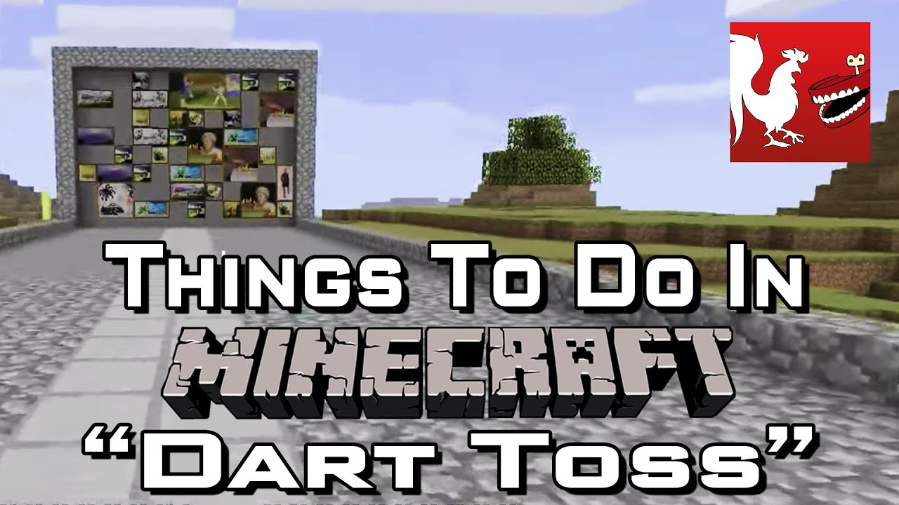 Amazing photo of Things to Do In Minecraft – Dart Toss   with #BA1115 color and 1920x1080 pixels