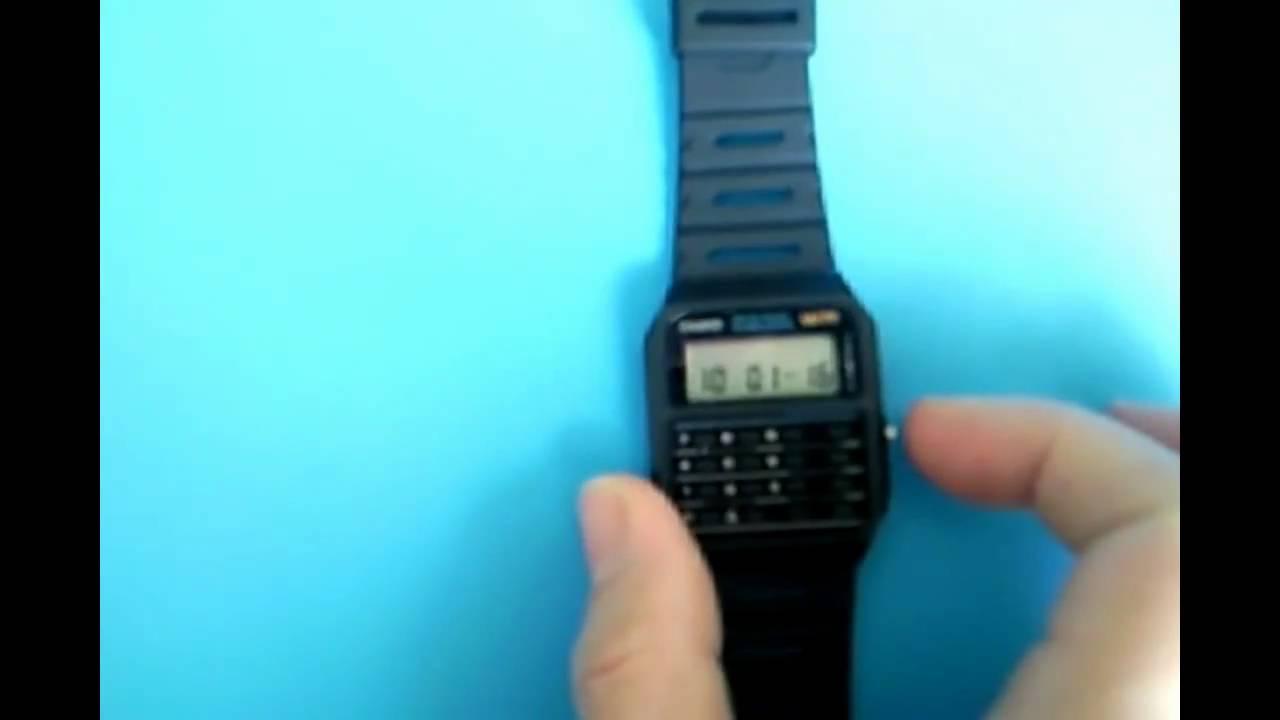 adjust time on ca 53w casio calculator watch youtube rh youtube com Casio Calculator Watch casio ca-53w watch manual
