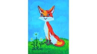 Уроки рисования. Как нарисовать лису гуашью ArtBerry  how to draw a fox(Урок рисования для детей. Больше полезной информации о гуаши здесь http://artberrypromo.ru/catalog/9/123 ▻ Скачайте видео..., 2016-06-05T21:52:45.000Z)