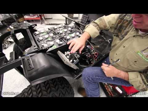ezgo heavy duty battery cable upgrade | how to install golf cart cables | 4  gauge - youtube