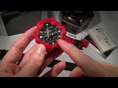 Casio GShock GA700 GA-700 wrist watch First Look, demo review of functions