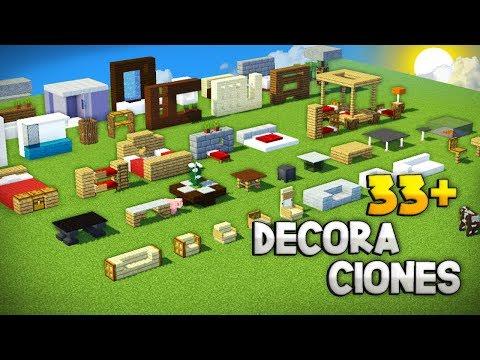 MINECRAFT: COMO HACER + DE 33 DECORACIONES PARA TU CASA! | IDEAS DE DECORACIÓN PARA TU CASA