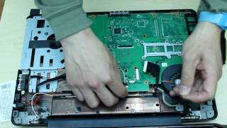 Toshiba satellite l505d   l505d ls5003 laptop dis assembly remove motherboard/hard drive etc....