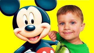 Toys for kids Family Fun Kids Playtime with Mickey Mouse Toys Video for kids Игрушка