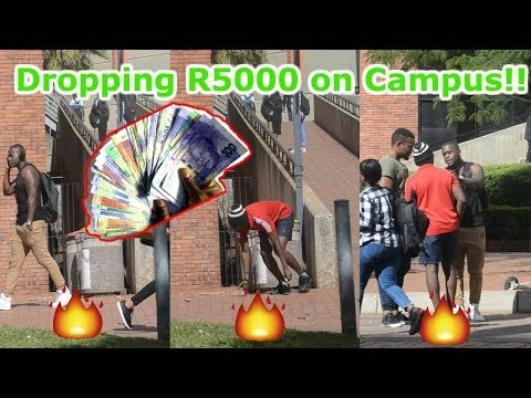 Dropping R5000 at The University Of Johannesburg Social Experiment (We FOUGHT)