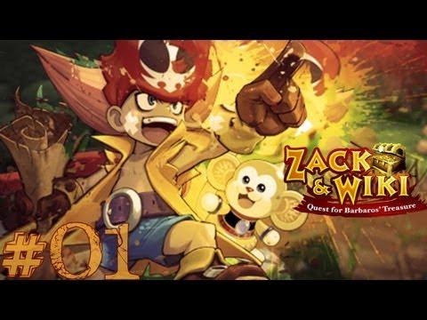 Zack and Wiki - 01/..- Rovine nella giungla: inizia il viaggio!- MAX HIRAME Q points! (HD- ITA)