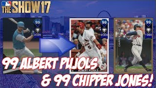 NEW 99 ALBERT PUJOLS & 99 CHIPPER JONES! | MLB The Show 17 Programs