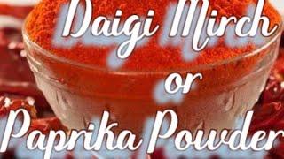 Substitute  of Daigi Mirch or paprika powder!