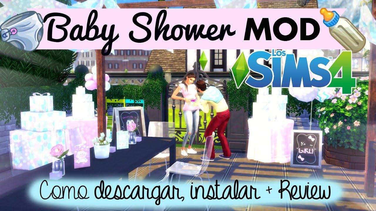 Baby shower mod los sims 4 como descargar e instalar for Mods sims 4 muebles