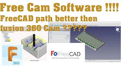 Best Free CNC Cam Software FreeCAD path better then fusion 360 Cam