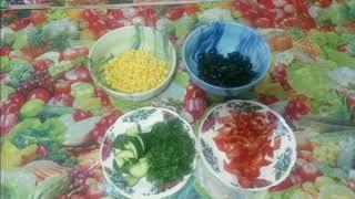 Постный салат Радуга