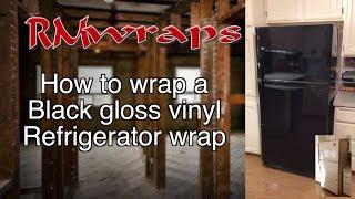 How To Install A Black Vinyl On A Fridge Wrap Film Rm Wraps.com