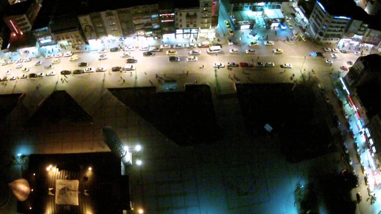 Erzurum Cumhuriyet Caddesi Hava Çekimi