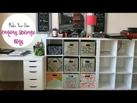 Make Your Own Cute Canvas Storage Bins