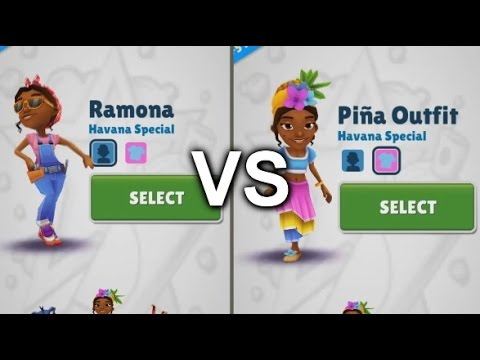 Subway Surfers Havana - Ramona Vs Ramona With Pina Outfit And Chrome Hoverboard