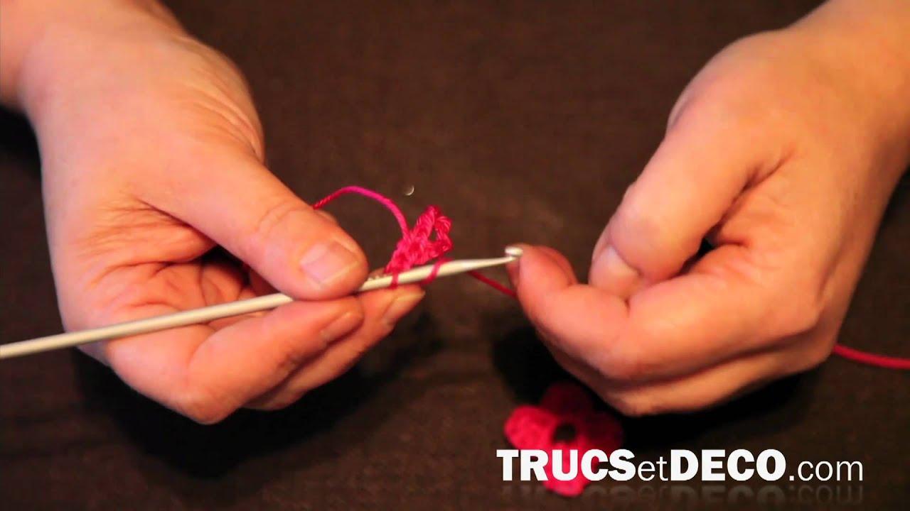 fleur en crochet - tutoriel par trucsetdeco - youtube