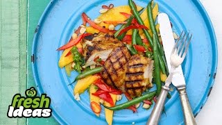Grilled Chicken Salad Recipe With Mango