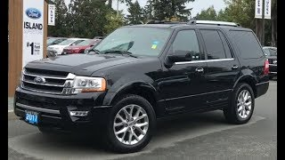 2017 Ford Expedition Limited, W/ moonroof, Leather, Seats 8 Review| Island Ford