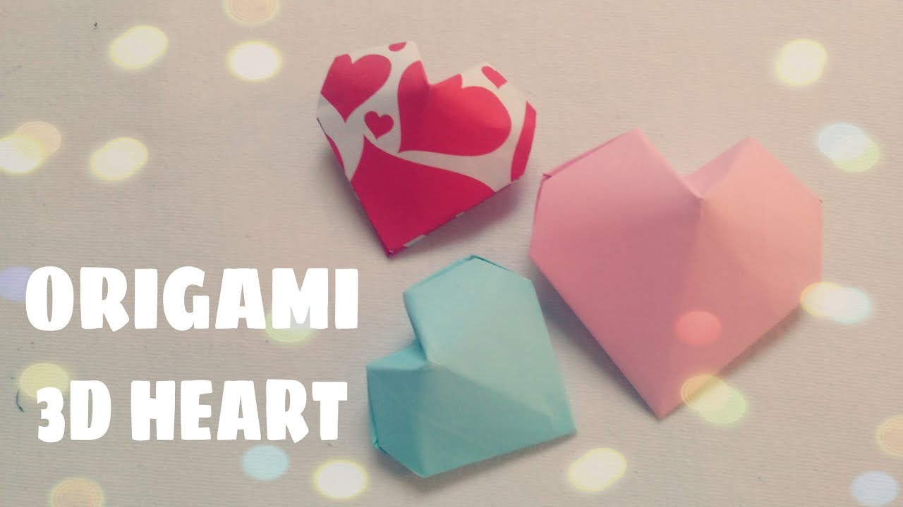 Origami 3D Puffy Heart Instructions - Paper Kawaii | 720x1280