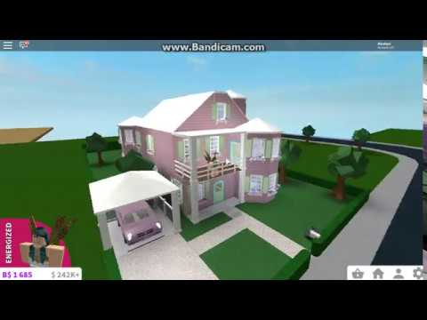 Pink Victorian House Welcome To Bloxburg Youtube
