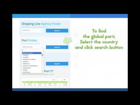 Vessel finder / Port finder / Shipping Agency finder www.cntracking.com