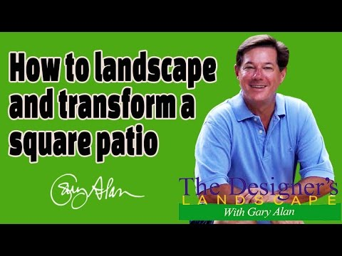 How to landscape and transform a square patio Designers Land