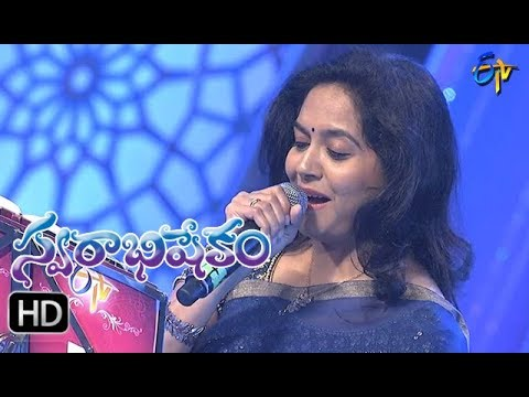 Mella Mella ga Challa Challaga Song | Sunitha Performance | Swarabhishekam | 17th Sept 2017| ETV