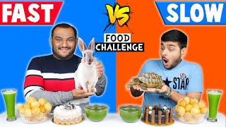 FAST VS SLOW FOOD EATING CHALLENGE | Food Eating Competition | Funny Challenge | Viwa Food World