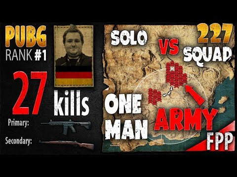 [Eng Sub] PUBG Rank 1 - Itzz_ChrizZ 27 kills [EU] Solo vs Squad FPP - One Man Army #227