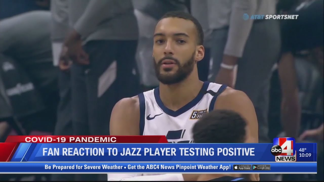 Fan reaction to Jazz player testing positive for COVID-19