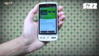 Sizz - HTC Desire - Apps installeren