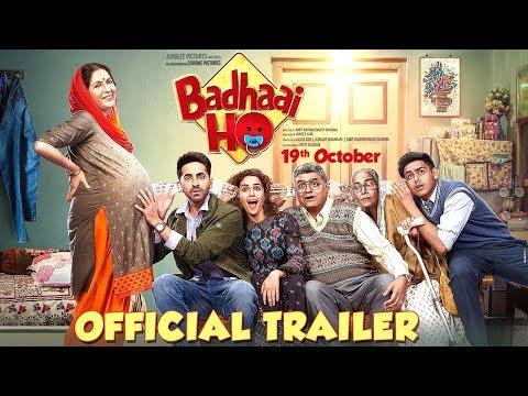 Badhaai Ho' Official Trailer   Ayushmann Khurrana, Sanya Malhotra   Director Amit Sharma   19th Oct