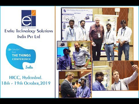 Enthu Technology Solutions Live LoRa Demo @ The Things Conference In Hyderabad