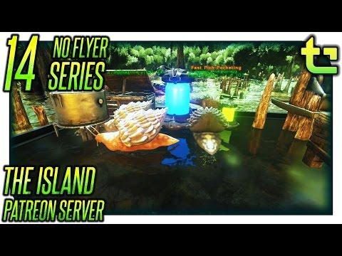 Ark The Island || No Flyer E14 - Snail Cementing Paste Farm || TimmyCarbine