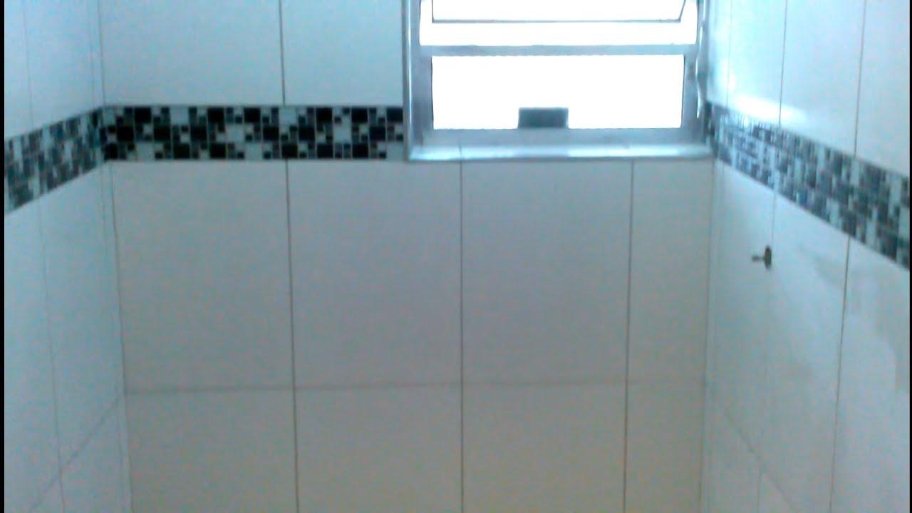 Banheiro Com Faixa Decorativa De Pastilha De Vidro Youtube