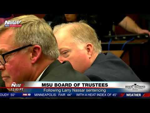 MSU BOARD OF TRUSTEES: Meets, makes statements following Larry Nassar sentencing (FNN)