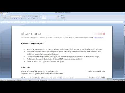 Resumes, Cover Letters & Curricula Vitae | Student Services