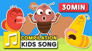 FART SONG 30MIN COMPILATION | LARVA KIDS | SUPER BEST SONGS FOR KIDS |  FUNNY SONG