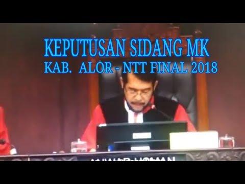 Keputusan Sidang MK Pilkada Alor 2018 Final