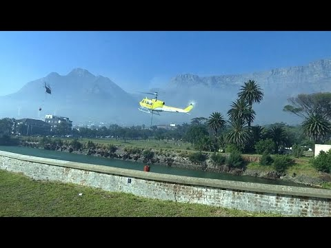 شاهد: فرق الإطفاء تحاول السيطرة على حرائق الغابات في جنوب إفريقيا …