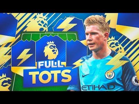 FULL TOTS PREMIER LEAGUE SQUAD BUILDER!!   FIFA 17 - YouTube