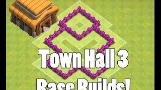 Clash of Clans Town Hall 3 Base Build Trophy, Farming, War