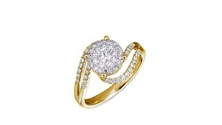 Diamond Couture 14K Gold .5ctw Diamond Bypass Round Ring