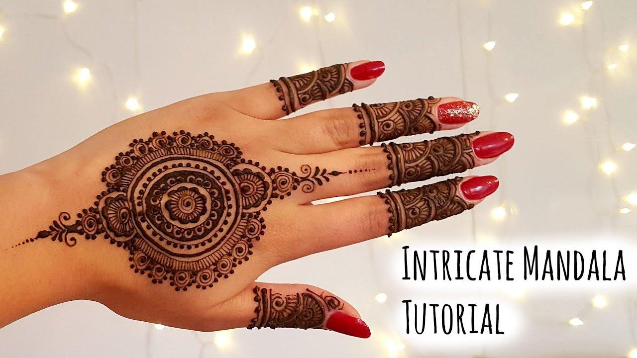 Mandala Henna Designs: Intricate Mandala Henna Tutorial
