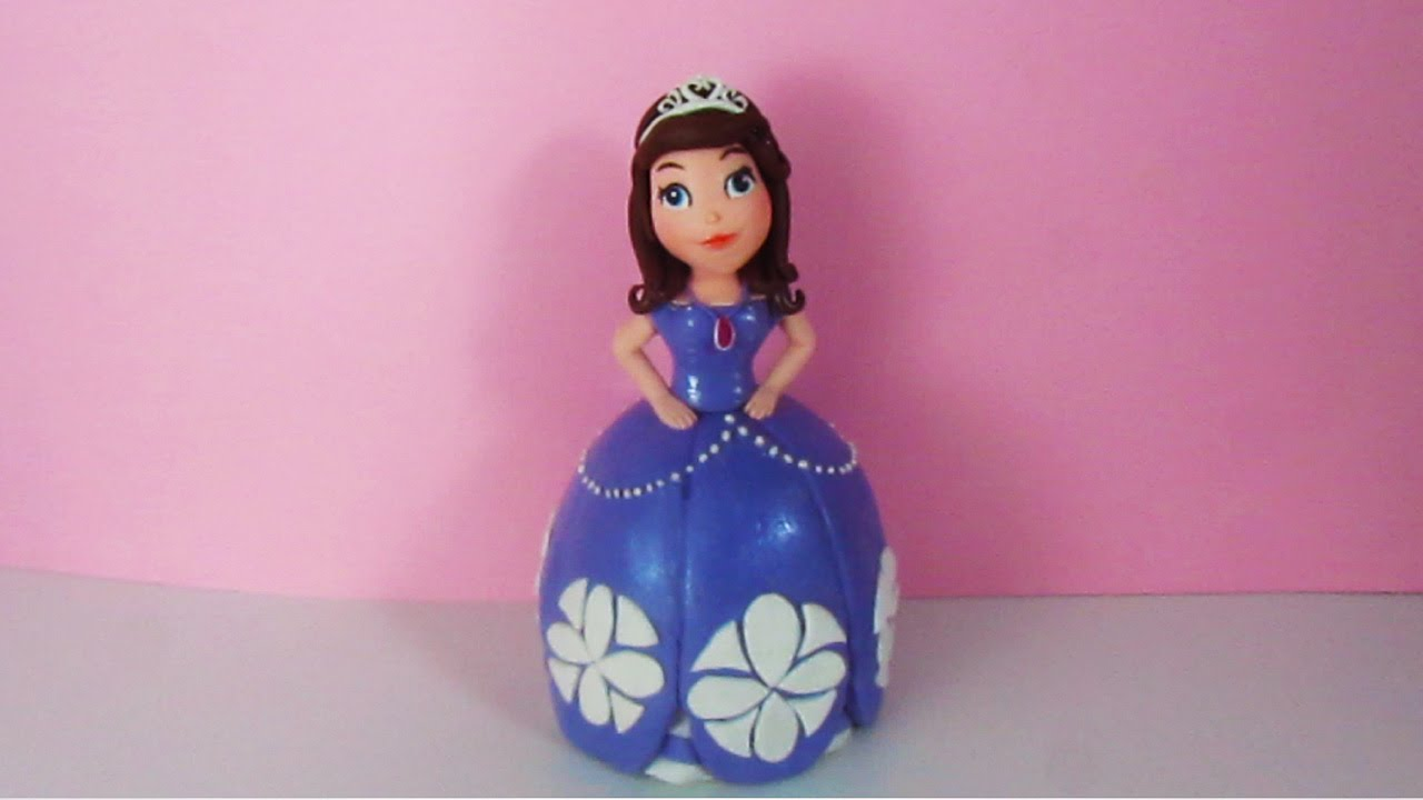 Princess Sofia The First Out Of Fondant Cake Topper Tutorial