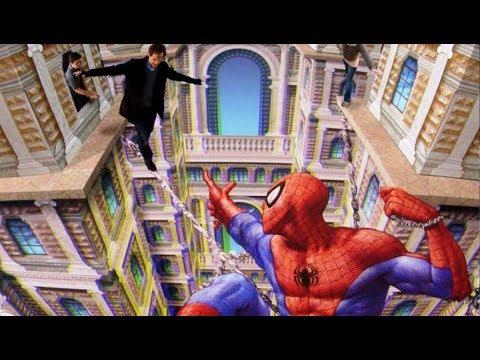 Amazing 3d Art illusion, Best of 3D Street Art Painting   spiderman, batman, ninja turtles