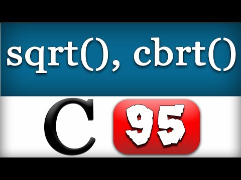 Sqrt And Cbrt Functions In C Programming Language Video Tutorial